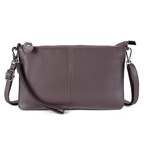 Befen Women's Leather Wristlet Clutch Phone Wallet Small Crossbody Purses and Hangbag with Card Slots - Mauve ()