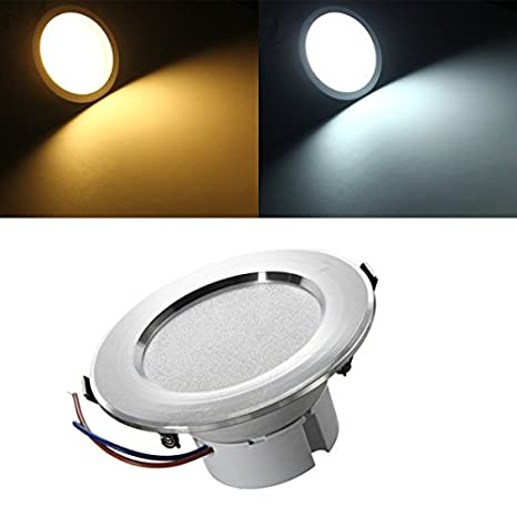 Global 7w LED panel de luces empotradas techo abajo bombilla ...