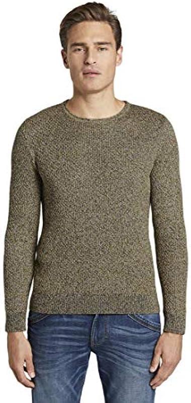 TOM TAILOR dla mężczyzn sweter i kurtki z dzianiny strukturalny sweter - xxl: Odzież