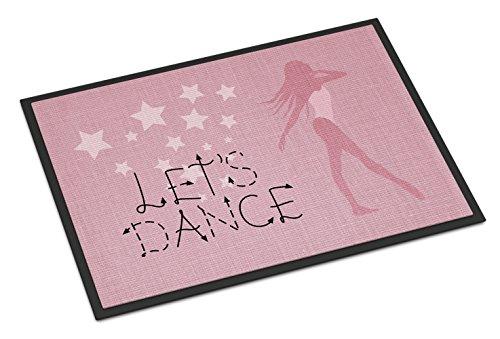 Caroline's Treasures Let's Dance Linen Pink Doormat, 24 H x 36 W'', Multicolor by Caroline's Treasures (Image #1)