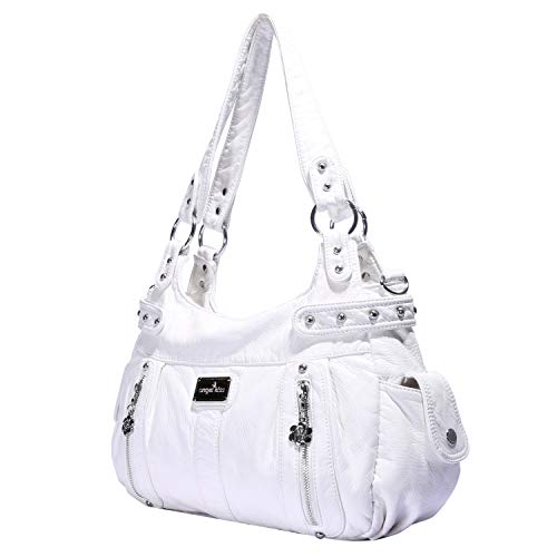 Angelkiss Design Handbags Womens Purse Feel Soft Lether Multiple Top Zipper Pockets Shoulder Bags Large … by Angel Kiss (Image #1)