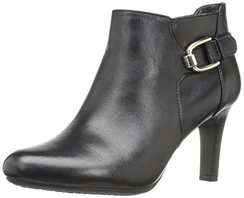 Bandolino Women's Layita Ankle Bootie, Black, 8.5 M US (Leather Heels Bandolino)