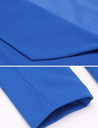 Da Cappotto Base Modern Manica Fit Donna Giacca Lunga Tailleur Giaccone Primaverile Autunno Giovane Fashion Classica Slim Outerwear Blau Stile Elegante Monocromo 5wqxfxan0O