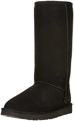UGG Women's Classic Tall II Winter Boot, Black, 8 B US