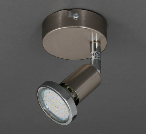 Trango® LED Deckenlampe Deckenstrahler Spots inkl. 3Watt LED Leuchtmittel 3000K warm-weiß (1-flg - 3.0 Watt)