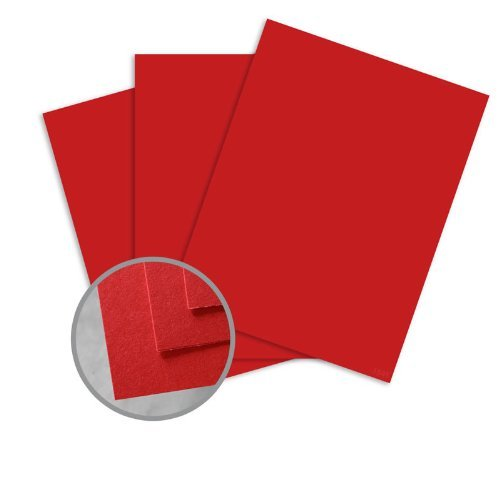 BriteHue Red Card Stock - 11 x 17 in 65 lb Cover Semi-Vellum 30% Recycled 250 per Package (30% Finish Recycled Vellum)