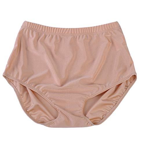 speerise Womens Nylon Spandex High Waisted Ballet Dance Brief Panty, S, Flesh
