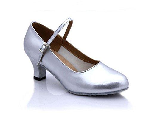 shoes de Talón Base Medio Silver Ruanlei Plaza del Blanda ZSqn1wd