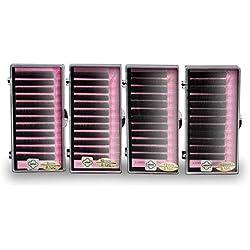 Mink Eyelash Trays Eyelash Extensions 8mm, 10mm, 12mm, 14mm 4 Trays Single Lashes