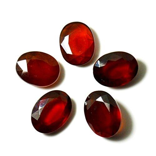 Natural Hessonite Garnet Loose Gemstone Lot Total 20 Carat 5 Piece Oval Shape Healing at Wholesale Rate