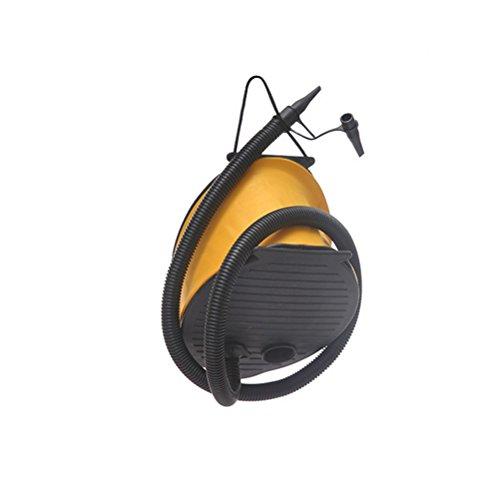 (OUNONA Air Foot Pump Inflator Foot Air Pump Camping Balloon Sleeping Air Bed Yoga Ball Pad Mat Mattress (Large))