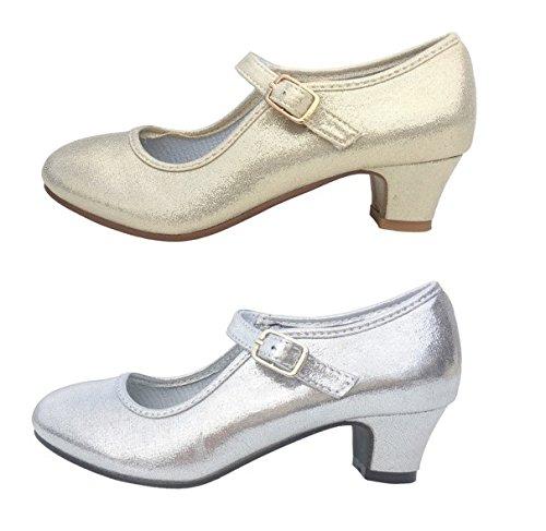 Elsa talons Senorita Frozen chaussures dorés talons Elsa avec Princess 325ee2