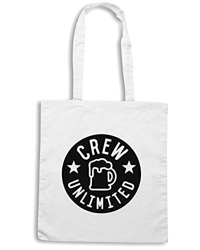 T-Shirtshock - Bolsa para la compra MAT0018 Crew Unlimited Beer Stars Maglietta Blanco