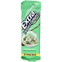 Extra Dessert Delights Sugar Free Mint Chocolate Chip Chewing Gum (Two 3 Packs)