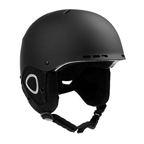 (MonkeyJack Safety Men Women Snow Ski Snowboarding Helmet Outdoor Winter Sports Bike Cycling Skateboard Skating Hard Matte Cap - 2 Colors M/L - Black, M)