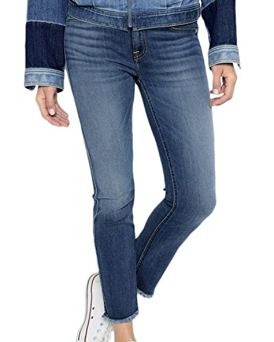 7 For All Mankind B(Air) Denim Roxanne Ankle with Frayed Hem in Vintage Dusk (26) 7 For All Mankind Jeans Roxanne