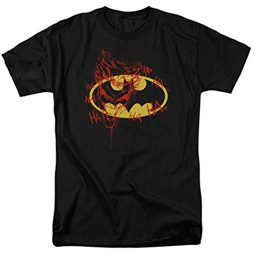 Batman Logo Joker Graffiti DC Comics T Shirt & Exclusive Stickers (XX-Large) -