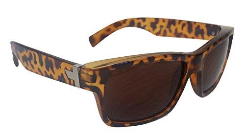 Elegant Unisex Square Wayfarer Turtle Shell Brown sunglasses, Free Carrying - Wayfarers Turtle Shell
