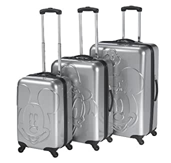 Heys USA Luggage Disney Mickey Embossed Faces 3 Piece Hardside Spinner Set, Mickey Embossed Faces, 30 Inch
