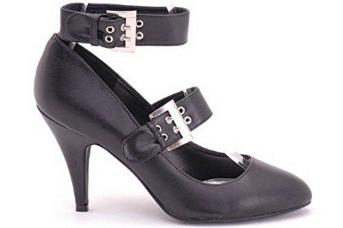 EyeCatchShoes - Sydney Patent Ankle Strap Court Shoes Black Pu uggmHdiCOm