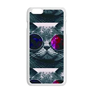 Colorful glasses cat Cell Phone Case for Iphone 6 Plus