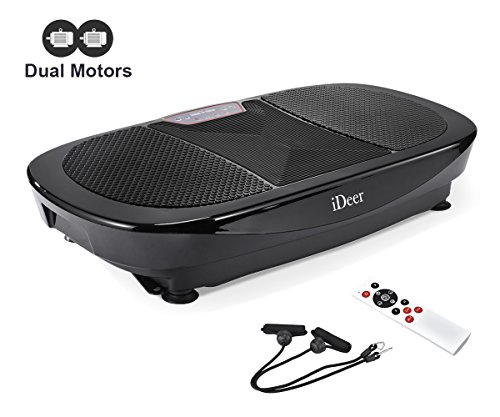 iDeer Vibration Platform Fitness Vibration Plates,Whole Body Vibration Exercise Machine w/Remote Control &Bands,Anti-Slip Fit Massage Workout Vibration Trainer Max User Weight 330lbs (Black09008) by IDEER LIFE (Image #9)