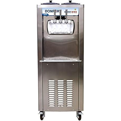 Commercial 2 Flavor And Twist Soft Serve Ice Cream Frozen Yogurt Gelato Sorbet Machine 50 Quarts Hour