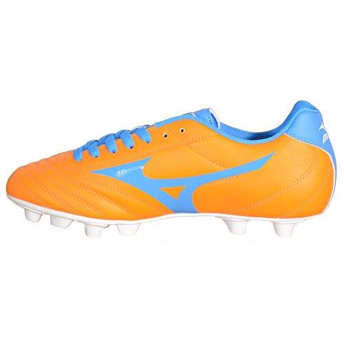Mizuno - Mizuno Fortuna 4 MD Botas de futbol Naranja Cuero 158154 - Naranja, 44,5