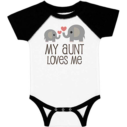 inktastic - My Aunt Loves Me Gift Infant Creeper 6 Months White & Black 230e8
