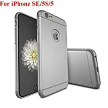 iPhone SE Case, iPhone 5 Case, iPhone 5S Case, Asstar Luxury 3in1 Ultra-thin Hard Plastic Premium Shock Anti Scratch Shockproof Cover Skin Hard PC Back Case for iPhone 5S (Gray)