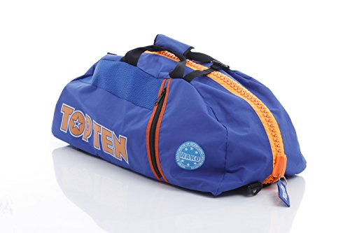 "TOP TEN Rucksack - Tasche WAKO blau orange ""L"" Large 8002-6L"