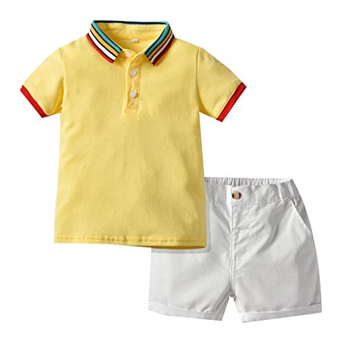 Baby Kids Polo Shirt Tops Unisex,Toddler Kids Baby Girls Boys Short Classic Solid T-Shirt Tee Tops Clothes for 0-6 Years Old Kids Outfits Summer Cotton Tops