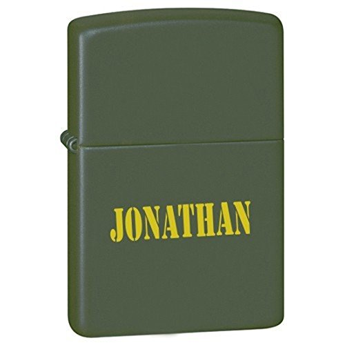 Groomsman Gift Personalized Matte Finish Color LIGHTER - Free Laser Engraving (Green Matte)