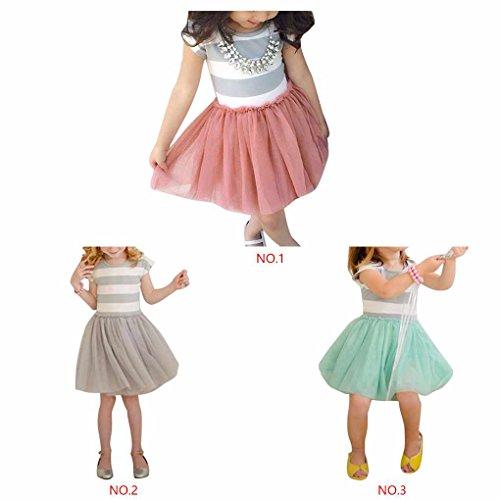 QHGstore Princesa Party Tutu Vestido Falda de manga corta Gris