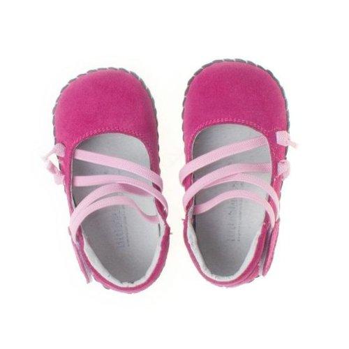 Little Blue Lamb - Chaussures premiers pas cuir souple fille | Ballet rose Taille: 18-24 mois
