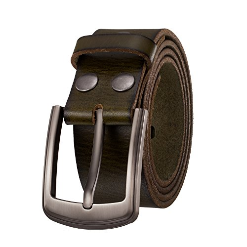 KEEPBLANCE Men's Classic Casual Jean Style Strong Built Genuine Leather Belt Gift Box ()