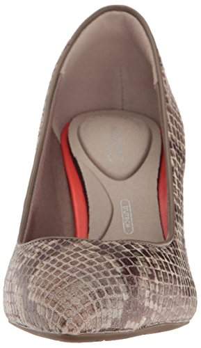 Pump Leather 75mm Am Motion Total Women's Lux Nude Toe Rockport Pointy x0I4ff