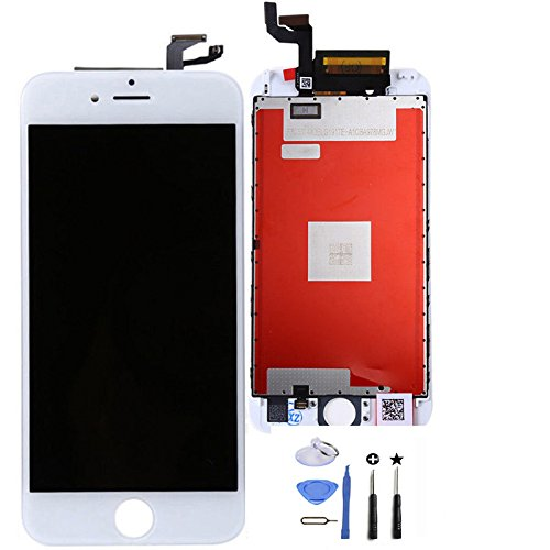 LCD Display Touch Screen Digitizer Assembly LCD Replacement Screen with 3D Touch for Iphone 6S Plus (for iphone 6S 5.5inch screen White)