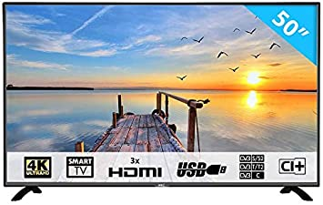 HKC 50F1 : 127 cm (50 Pulgadas) Smart-TV (4K Ultra HD, TripleTuner, Ci+, HDMI, Reproductor de Medios a través de USB 2.0): Amazon.es: Electrónica