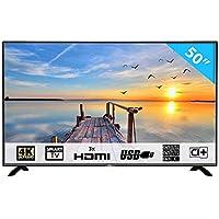 HKC 50F1 127 cm (50 Pouces) LED Smart TV téléviseur (4K Ultra HD, Triple Tuner DVB-T2 / T/C / S2 / S, H.265 HEVC, CI+, Lecteur multimédia Via Port USB [Classe énergétique A]
