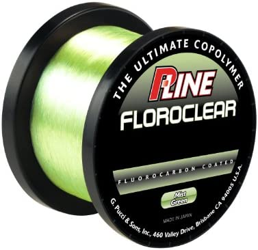 p-line FloroclearバルクMistグリーン釣りライン