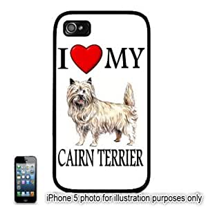 Cairn Terrier I Love My Dog Photo Apple iPhone 5C Hard Back Case Cover Skin Black FITS FOR 5C