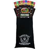 Buffalo Bills 15-Piece Beef Jerky & Beef Stick Sampler Black Velour Wine Gift Bag (15 mixed packs)