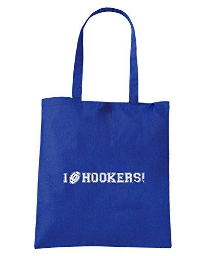 T-Shirtshock - Bolsa para la compra WC0270 CLEARANCE - RUGBY T-SHIRT - I LOVE HOOKERS Azul Real