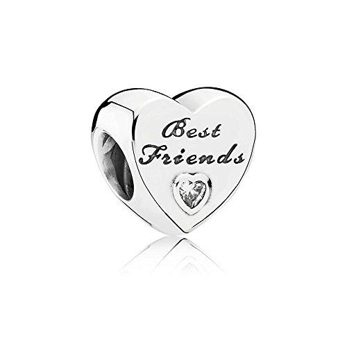 Pandora Silver CZ Friendship Heart Charm (Friend Heart Charm)