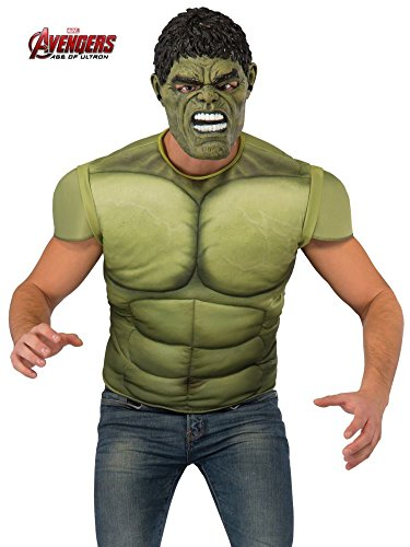 Rubie's Men's Avengers 2 Age of Ultron Hulk Muscle Chest and Mask, X-Large]()