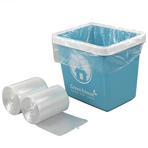 Yubine 1.5 Gallon Clear Trash Bags, 220 Counts