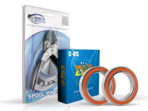 Abu Garcia Pro Top Max2 Baitcast-Bearing Upgrade Kit & Spule Pin Zange Combo von Boca Bearing Company
