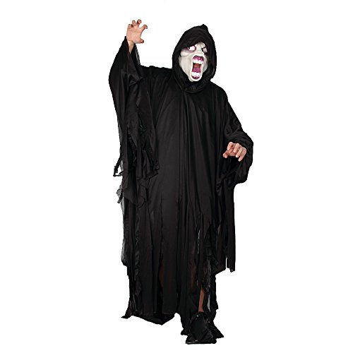 Halloween Scare Costume Ghost Death Fancy Role Play Horror Bleeding For Adult (Black Death Doctor Costume)