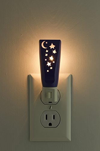 Lights By Night Stars and Moon Night Light, Manual On/Off, Incandescent, Warm White, Ideal for Bedroom, Bathroom, Hallway, Stairs, Pantry and Laundry Room, 52180